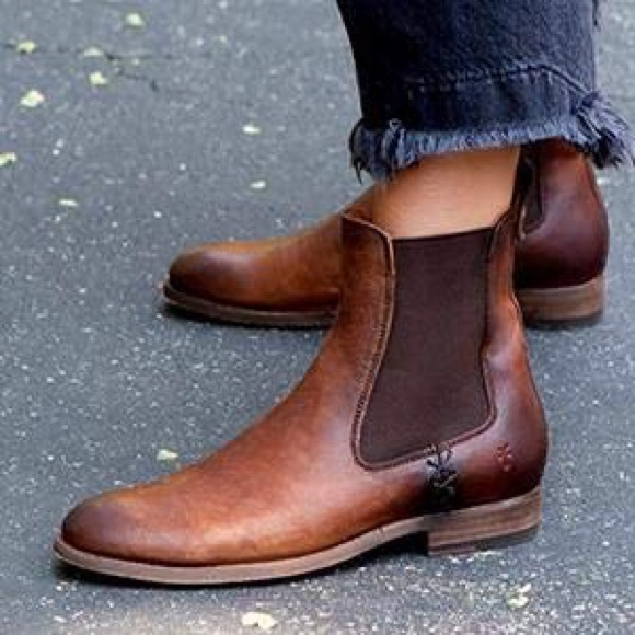 7f18f476fd2 FRYE Melissa Chelsea Ankle Boots Cognac NWT